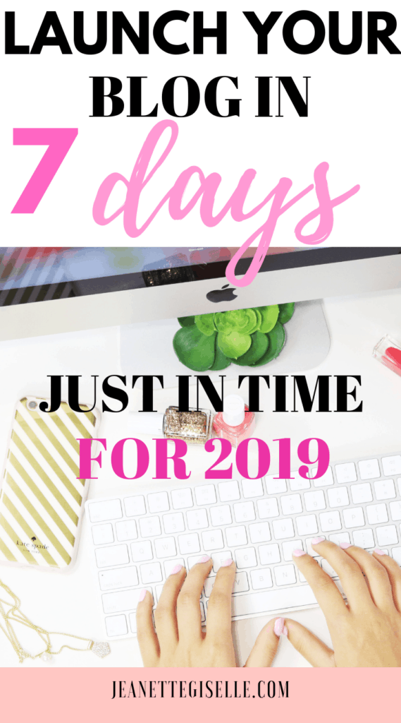 Are you interesting in launching a blog? Well have your blog launch ready in a week! Perfect for blogging beginners learning how to start a blog.