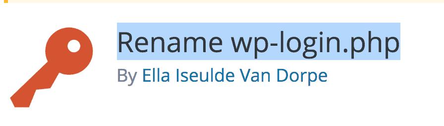 Rename wp-login plugin