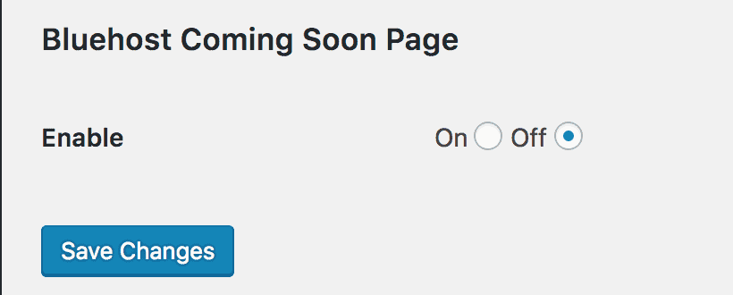 Bluehost Coming Soon Page